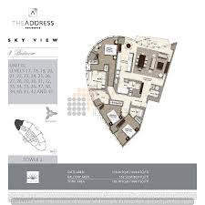floor plans by address the address sky view