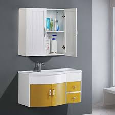 topeakmart white wooden bathroom wall cabinet toilet