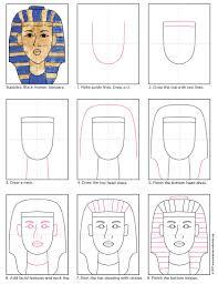 king tut mask template iris mars portfolio graphic design purim