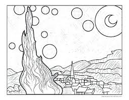 coloring page for van van gogh coloring pages van coloring pages van sunflowers coloring