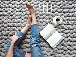 Rug Wool Yarn Knitted Rug Chunky Knit Rug Chunky Yarn Rug Knitted Carpet Knit