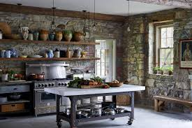 kitchen style traditional victorian kitchen stone wall wood open