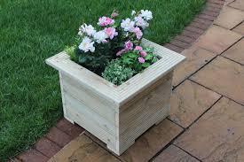 2 metre long wooden garden planter trough hand made great veg bed