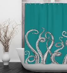 octopus tentacle shower curtain availabe in any color 2 sizes