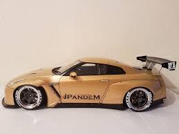 Nissan Gtr Gold - 1 18 ignition model nissan gtr pandem gold datsun nissan
