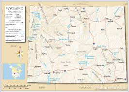 City And State Map Of Usa by Reference Map Of Wyoming Usa Nations Online Project