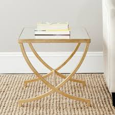 Gold Accent Table Safavieh Treasures Maureen Gold Mirror Top Accent Table Free