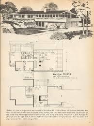 modern house floor plan vintage house plans mid century homes mid century modern
