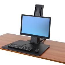 standing desk workfit sr desktop workstation ergotron