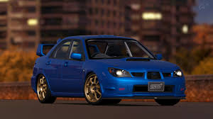 subaru impreza modified blue subaru impreza wrx sti spec c type ra gt6 by vertualissimo on