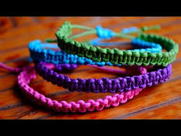 string knot bracelet images Diy stackable square knot cobra stitch bracelets jpg