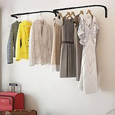 amazon com clothes bar adjustable width multi purpose wall