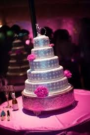 pink and silver wedding cakes by pinklipstick paris