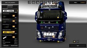 new volvo truck 2015 new volvo fh16 accessories interior v2 5 1 25x mod for ets 2
