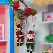 christmas tree hanging decoration party parachute snowman santa