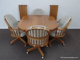 Keller Dining Room Furniture Lot 90 Keller Oak Dining Table W 4 Chairs U0026 2 Leaves Live