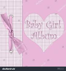 baby girl photo album pink cover baby girl album stock illustration 10902106