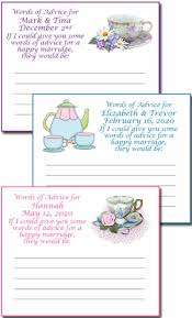 advice cards for the bridal shower tea party advice cards