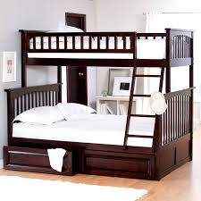 Bunk Beds With Stairs Dark Brown Wooden Full Over Queen Bunk Bed With Drawers Jpg