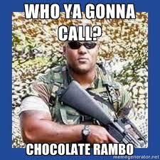 Rambo Meme - christopher dorner inspires chocolate rambo meme