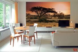 mural sunset in africa u0027s savanna