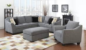 Light Gray Sectional Sofa by Grey Sectional Sofa Source Furniture Of America Essence Chenille