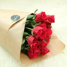 Long Stem Rose Long Stem Rose Bouquet 12 Or 20 Flower Gift Korea 240 5