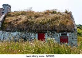 Thatched Cottage Ireland by Donegal Ireland Thatch Roof House Stock Photo Royalty Free