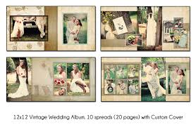 unique wedding albums vintage 12x12 digital wedding album template unique 10 spread