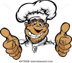 cuisine dessin animé clipart sourire dessin animé cuisine chef cuistot à chapeau