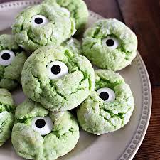 monster eye halloween cookies u2014 darling be brave