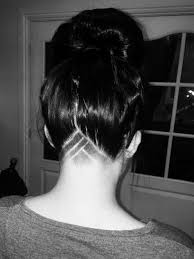 shaved undercut short hair girls undercut hair design hair pinterest undercut hair