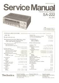 technics sa222 service manual immediate download