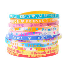 bracelet rubber images Neon best friends rubber bracelets claire 39 s jpg