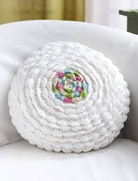 Free Cushion Crochet Patterns Ruffled Crochet Pillow Adds A Delicate Touch Free Crochet Pattern