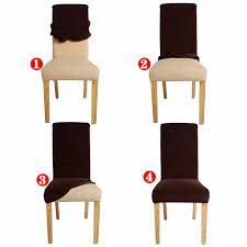 Purple Chair Covers Jacquard Spandex Stretch Dining Chair Covers Machine Washable