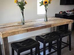 Reclaimed Wood Bar Table Reclaimed Wood Community Bar Restaurant High Top Table