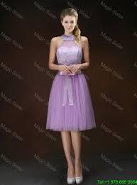 popular knee length prom dresses with halter top mydresscity com