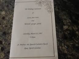 wedding program catholic mass sle catholic wedding program pairedlife