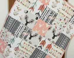 woodland crib bedding etsy