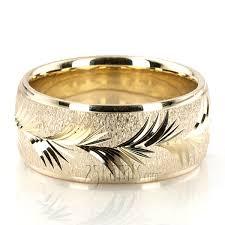carved wedding band leaf design fancy carved wedding band fc101182 14k gold