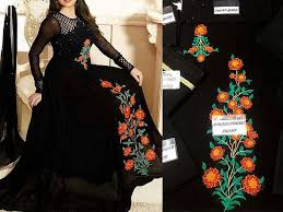 Indian Embroidered Chiffon Maxi Dress Price In Pakistan M009400