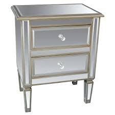 Mirrored Accent Table Thresholdtm Mirrored Accent Table With Drawer Threshold Mirrored