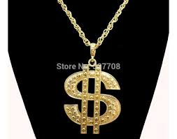 pendant l with chain 18k gold plated chain dollor necklace xx l hip hop bling gangster