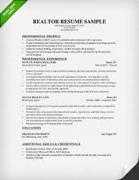Sample Research Resume by Real Estate Resume U0026 Writing Guide Resume Genius