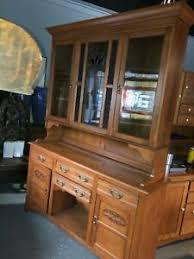 vintage glass front kitchen cabinets vintage 2 door oak kitchen hutch cabinet stain leaded