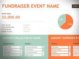 fundraising report template free fundraising event template for excel 2013