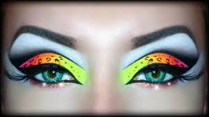 neon uv leopard print makeup tutorial halloween look