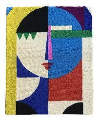 Midcentury Modern Colors Vintage U0026 Used Mid Century Modern Textile Art Chairish