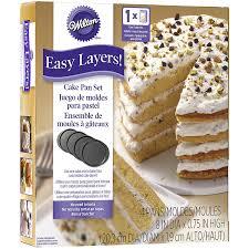 amazon com wilton 2105 0188 4 piece easy layers round cake pan